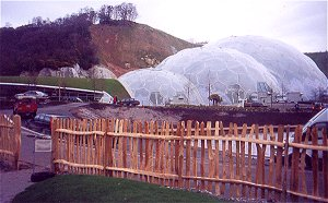 Picket Fencing Surrounding the Orchard at the Eden Project